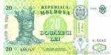 MOLDOVA █ bancnota █ 20 Lei █ 2006 █ P-13h █ UNC █ necirculata