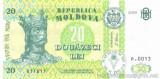 MOLDOVA █ bancnota █ 20 Lei █ 2005 █ P-13g █ UNC █ necirculata