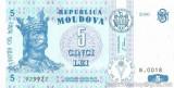 MOLDOVA █ bancnota █ 5 Lei █ 2006 █ P-9d █ UNC █ necirculata
