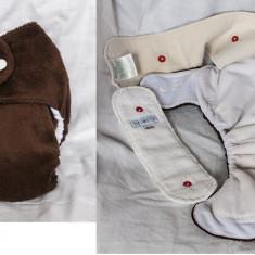 Scutece textile colorate si pufoase - Scutece lavabile copii, 4-16 kg