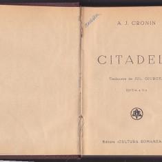 A. J. CRONIN - CITADELA ( 2 VOL EDITIA A II-A ) ( 1940 ) - Carte veche