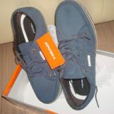 Pantofi sport Head barbatesti din piele - Pantofi barbat, Marime: 45, Culoare: Bleumarin, Piele intoarsa, Albastru