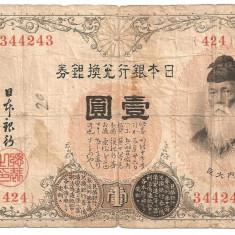 Japonia 1 Yen ND(1916) SILVER NOTE U