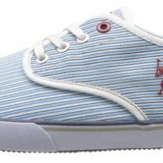 Adidasi US Polo Assn Hugh originali - tenisi barbati - adidasi originali - panza - in cutie - 40, Culoare: Bleu, Textil