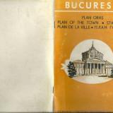BUCURESTI PLANUL ORASULUI EDITAT OFICIUL NATIONAL DE TURISM 1970