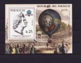 PARAGUAY 1983 - 200 ANI DE LA PRIMUL ZBOR- MICHEL BLOC 386 - COTA 20 EURO