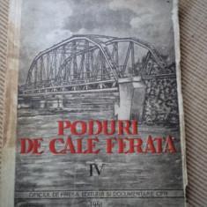 Poduri de cale ferata volumul IV Evgrafov cfr 1951 carte tehnica constructii - Carti Constructii