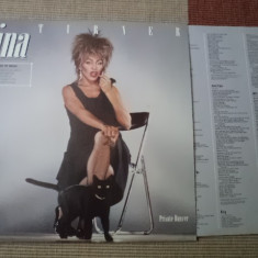 Tina Turner Private Dancer disc vinyl muzica pop rock 1984 lp mapa texte vest, VINIL