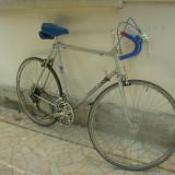 HERCULES Saragossa. Bicicleta merge impecabil, toate componentele sunt originale + ochelari Crivit + costum. - Cursiere, Gri-Albastru, Baieti, Aliaje de aluminiu