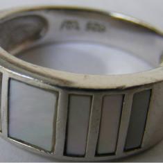 Inel vechi din argint cu sidef (3) - de colectie