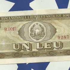 1 leu 1966 seria B.0015...704 - Bancnota romaneasca