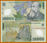 Romania, 10000 lei 2000, UNC_polimer, Isarescu