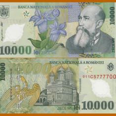 ROMANIA, 10000 LEI 2000, UNC_polimer, Isarescu - Bancnota romaneasca