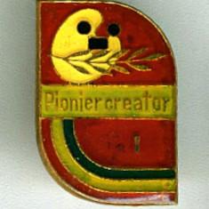 INSIGNA PIONIERI PIONIER CREATOR CLASA I EXCELENTA