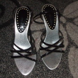 Sandale elegante - Sandale dama, Culoare: Gri, Marime: 35.5, Gri