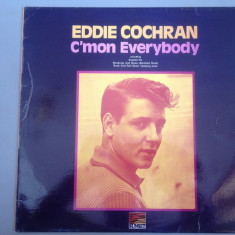EDDIE COCHRAN - C'MON EVERYBODY (U.A.REC/ 1959/ENGLAND) - RAR - DISC VINIL/VINYL - Muzica Rock Altele