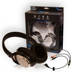 Casti Cu Microfon Azusa Sn-110, Casti On Ear, Cu fir, Mufa 3, 5mm