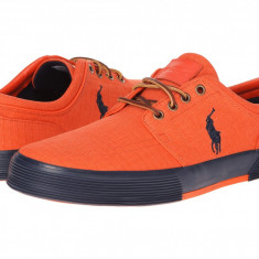 Pantofi barbati Polo Ralph Lauren Faxon Low, Orange | Produs 100% original | Livrare cca 10 zile lucratoare | Aducem pe comanda orice produs din SUA - Tenisi barbati
