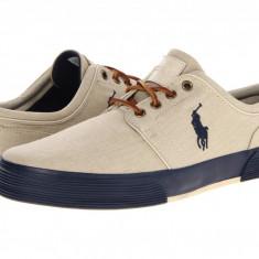 Tenisi barbati Polo Ralph Lauren Faxon Low Khaki Navy | Produs original | Se aduce din SUA | Livrare in cca 10 zile lucratoare de la data comenzii