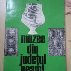 MUZEE DIN JUDETUL NEAMT MARCEL DRAGOTESCU carte arta muzeu cultura istorie 1974