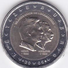Moneda Luxemburg 2 Euro 2005 - KM#87 UNC - necirculata (bimetalica - comemorativa)