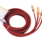 Cablu Scart-4Xrca Color Gold 1,5M