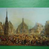 HOPCT 8565 GERMANIA NURNBERG / PIATA CENTRALA / PICTURA LORENZ RITTER SI LOUIS BRAUN [ SEMNATA 1865], Europa, Necirculata, Printata