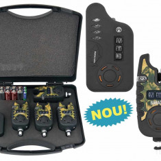 STATIE 4 avertizoare wireless TLI 22 + receptor Baracuda model 2014 - Avertizor pescuit, Swingere