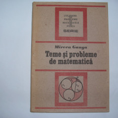 Teme si probleme de matematica Mircea Ganga,P12,RF3/2,RF1/4