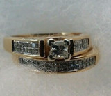 inel diamante naturale 1.5 ct diamante ... aur 14 k absolut superb..SUA