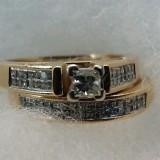 Inel diamante naturale 1.5 ct diamante ... aur 14 k absolut superb..SUA, Culoare: Galben