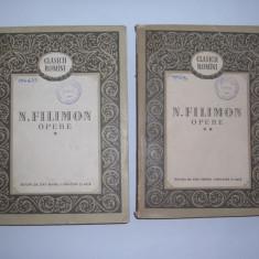 NICOLAE FILIMON OPERE 2 VOL,P12, Alta editura, 1955