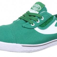 Adidasi originali Diesel - tenisi barbati - cutia originala - panza - 44, Culoare: Verde, Textil