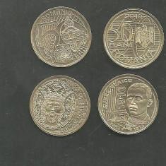 LOT 2 MONEDE 50 bani 2010 AUREL VLAICU si 2011 MIRCEA CEL BATRAN UNC, din fisic BNR - Moneda Romania