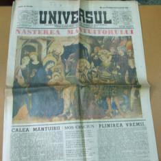 Ziar Universul 25 decembrie 1943