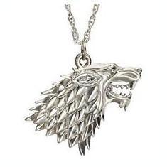Pandantiv Game of Thrones Stark House Patch (lup) Calitate Garantata - Pandantiv inox