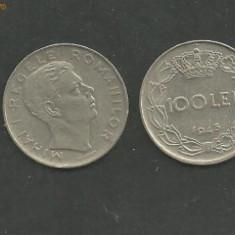 MONEDA 100 LEI 1943, circulata VF - Moneda Romania