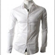 Camasa alba - camasa slim fit - camasa fashion - camasa 058 - Camasa barbati, Marime: S, M, L, XL, Culoare: Din imagine, Maneca lunga