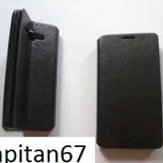 Husa Tip Carte Huawei Ascend Y530, Neagru - Husa Telefon Huawei, Negru, Piele Ecologica, Cu clapeta