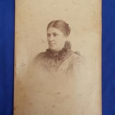 FOTOGRAFIE VECHE PE SUPORT DE CARTON * ATELIER ADELE WIEN - DATATA PLOESCI 1897