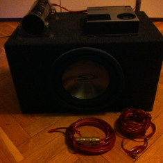 Subwoofer Alpine+statie+condensator Ground Zero