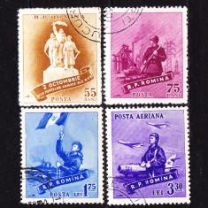 Timbre  ROMANIA 1958/*461 = ZIUA FORTELOR AEMATE, SERIE COMPLETA 4 V. ST.