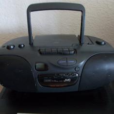 RADIO, CASETOFON, CD, JVC, MODEL RC-X240, Functioneaza