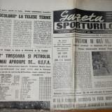 ziarul gazeta sporturilor 31 mai 1990 ( poli timisoara si petrolul tot mai aproape de cupa uefa si tricolorii la capionatul mondial din italia )