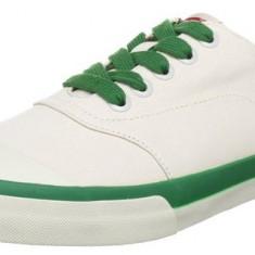 Adidasi Levis originali - tenisi barbati - in cutia originala - panza - 41, Culoare: Crem, Textil
