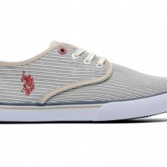 Adidasi US Polo Assn Hugh originali - tenisi barbati - adidasi originali - panza - in cutie - 44, Culoare: Gri, Textil