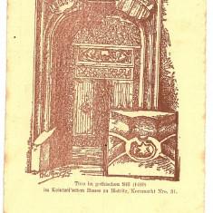 742 - Bistrita Nasaud, BISTRITA, Gothic door - old postcard - unused