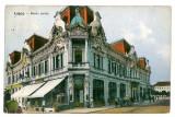755 - Timis, LUGOJ, restaurant, beer cart on the street - old PC - used - 1916, Circulata, Printata