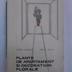 Plante de apartament si decoratiuni florale - Eugen Sadofsky  / C33P, Alta editura