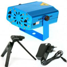 Laser disco cu microfon si senzor de sunet integrat + ventilator interior - Ideal pentru discoteci, cluburi, petreceri, aniversari, serbari, show-uri - Echipament DJ